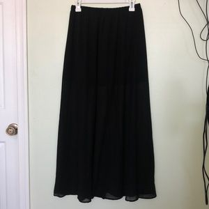 Forever 21  size M black sheer maxi skirt